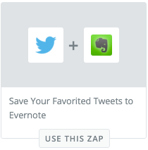 This is a Zap you can use to save Tweets to an Evernote Note.